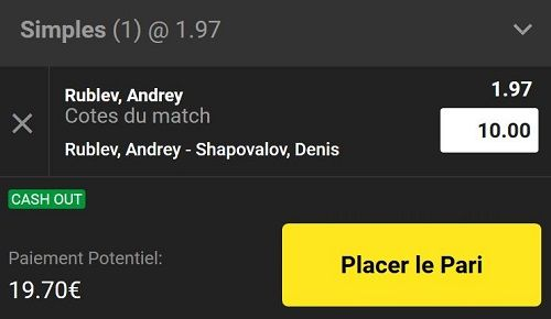 coupon pari tennis